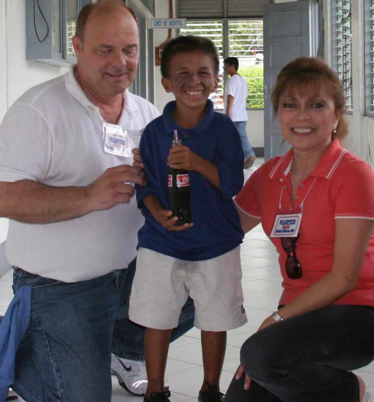 13-yr old Richard in 2006 with Ben and Anita Jackson